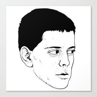 lou reed Canvas Prints featuring LOU REED by Mitch Meseke