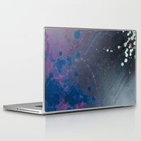 depression Laptop & iPad Skins featuring Depression Rains by Shy Neon