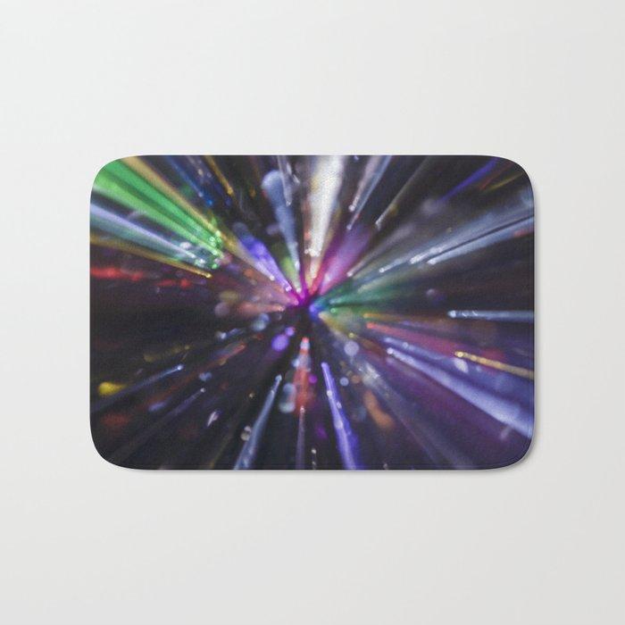 Abstract light explosion Bath Mat