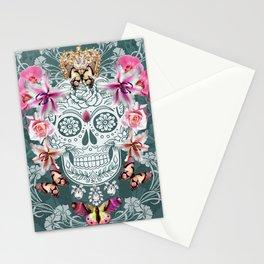 calavera & butterflies Stationery Cards