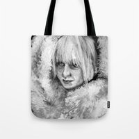 sia Tote Bags featuring Sia by JenHoney