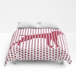 WEIMARANER HEARTS TIED Comforters