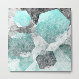 flatland 3 (blue) Metal Print
