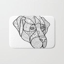 Labrador Retriever Mandala Bath Mat