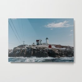 The Nubble Lighthouse in York, Maine Metal Print