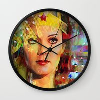 wonder Wall Clocks featuring Wonder by Ganech joe