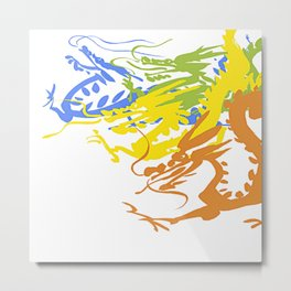 Colorful Dragon Chinese Metal Print