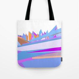 Pastel pink blue orange hand painted geometrical abstract pattern Tote Bag