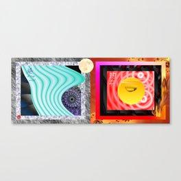 """Board1 """" Hot & Cold """" Canvas Print"""