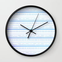 bohemian Wall Clocks featuring bohemian by studiomarshallarts