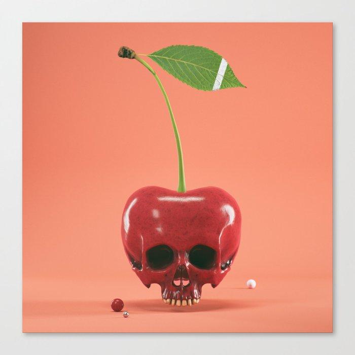 Cherry Skull Canvas Print