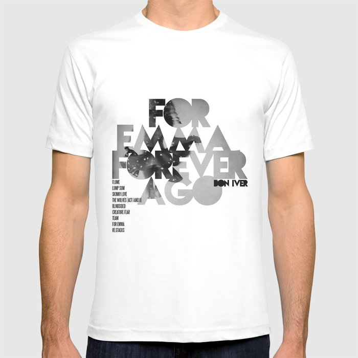 for emma forever ago bon iver cover art lp t shirt by funnyfaceart society6. Black Bedroom Furniture Sets. Home Design Ideas