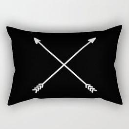 black crossed arrows Rectangular Pillow