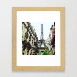 Eiffel tower surprise Framed Art Print