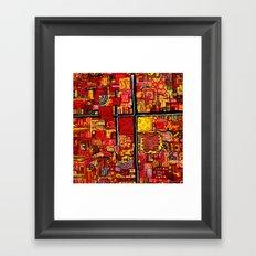Ketchup and Mustard Framed Art Print