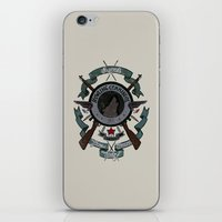 bucky barnes iPhone & iPod Skins featuring Sgt Bucky Barnes (blue) by emptystarships