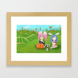 Elins ready for Autumn Framed Art Print