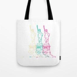 Triple Statue of Liberty Tote Bag