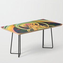 Time Shell III. Colorful Abstract Render Coffee Table