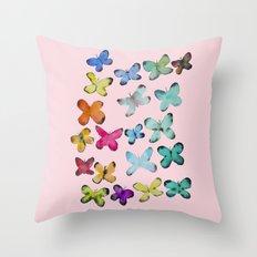 For A Friend: Butterflies Throw Pillow
