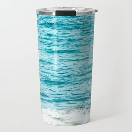 Teal Ocean Wave Photography Travel Mug