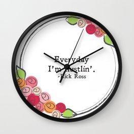 Floral - Hustlin' Wall Clock