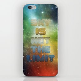 Sky is not the Limit iPhone Skin