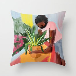 let's make this house a home Throw Pillow