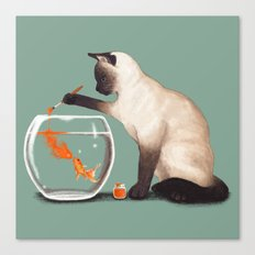 Goldfish need friend Canvas Print