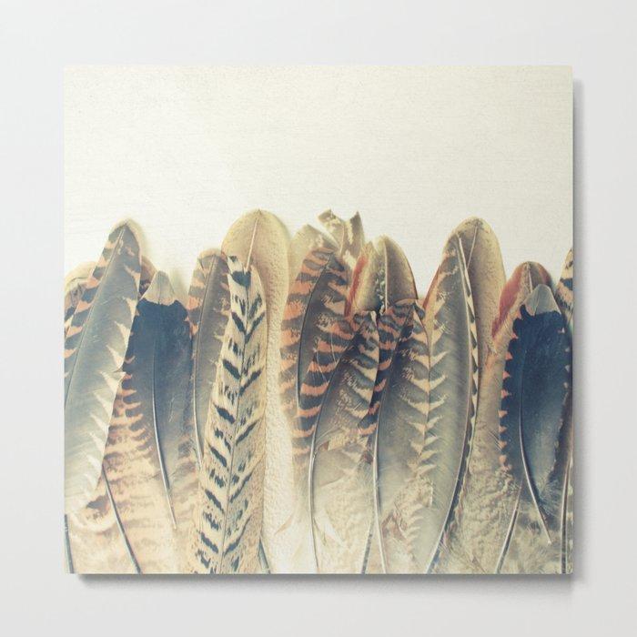 Feather Dip Metal Print