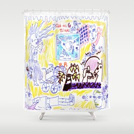 All In Goddess Time Shower Curtain