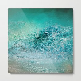 Turquoise Wave - Blue Water Scene Metal Print