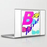bikini Laptop & iPad Skins featuring bikini by Mike van der Hoorn