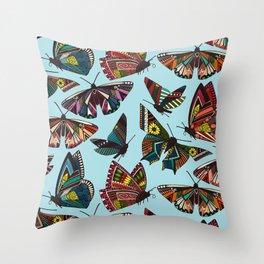 summer butterflies multi sky Throw Pillow