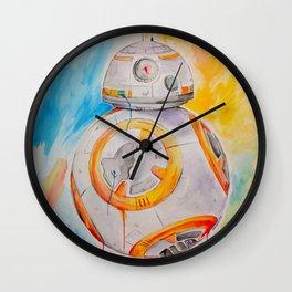BB8 watercolor painting Wall Clock