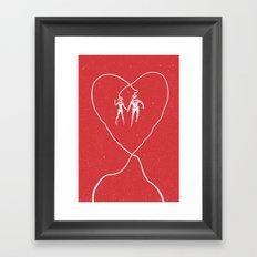Love Space, Red Framed Art Print