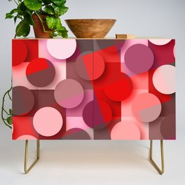 dots & squares red Credenza