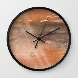 Rosy brown abstract Wall Clock