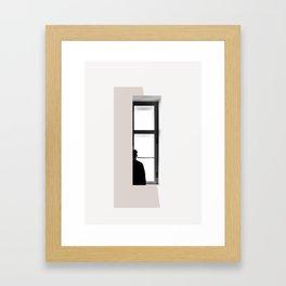 minimal collage2 Framed Art Print