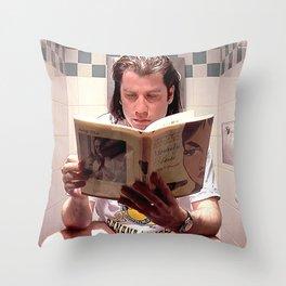 Pulp Fiction Movie Poster - Vincent Vega Print - Funny Bathroom Throw Pillow