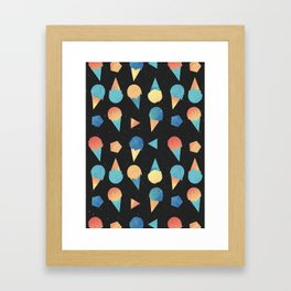 Cosmic Cream Framed Art Print