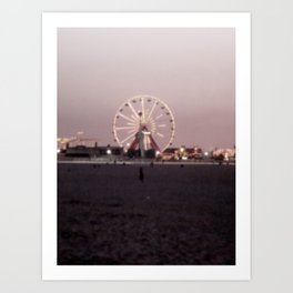 Farris Wheel at Night Art Print
