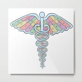 Medical DNA Metal Print