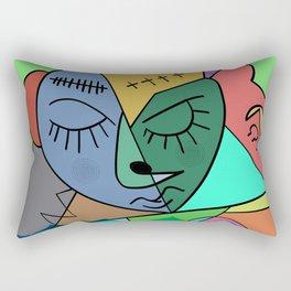 Sleepy Face Rectangular Pillow