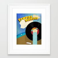vampire weekend Framed Art Prints featuring Vampire Weekend - Chicago by Luke Eckstein