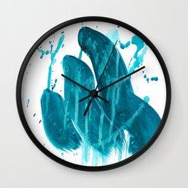 """Three Slugs"". Phthalo Green Series, No. 13. Wall Clock"