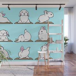 Bunnies Yoga Wall Mural