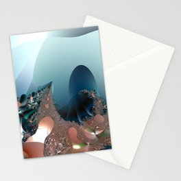 Hiding in a Fantasy Waterworld -- Fractal art by Twigisle at Society6 Stationery Cards