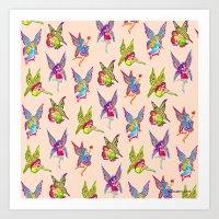 fairies Art Prints featuring Fairies by Elizabeth Kate