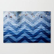 Ducks / Chevron Canvas Print